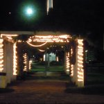 Pergola at the illuminated square