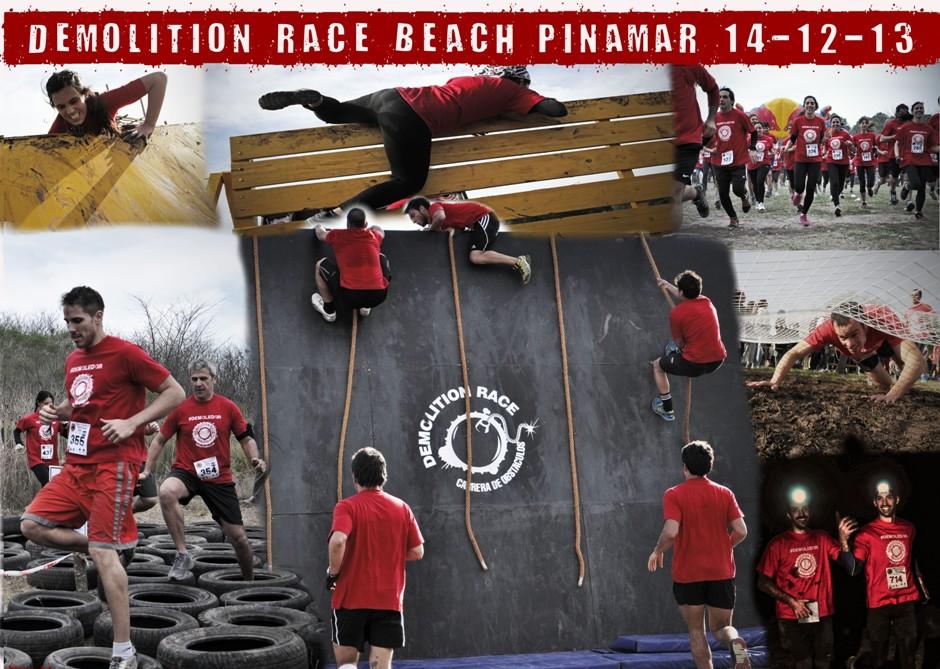 Demolition Race Beach Pinamar 14-12-13 - afiche para web