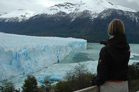 Observando el glaciar