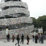 Babel Tower made of books