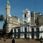 Cabildo building and tower of the Deliberative Council