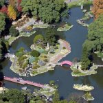 Air view of the Japanese Garden