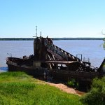 Aground on the shores of the Uruguay River