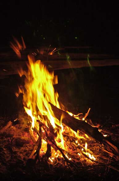 Camping and campfire - Author: Santiago Gaudio