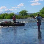 Fly-fishing in the Chimehuin River