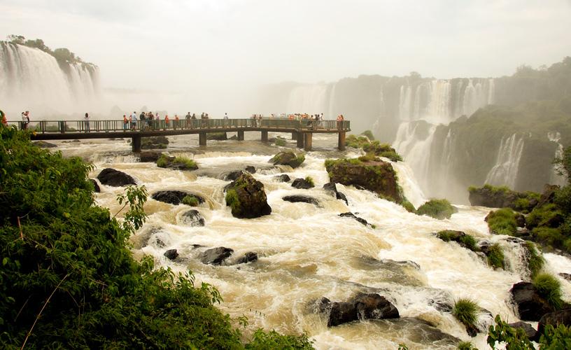 Cataratas De Iguazu Lado Argentino Mapa.Las Cataratas Del Iguazu Desde Brasil
