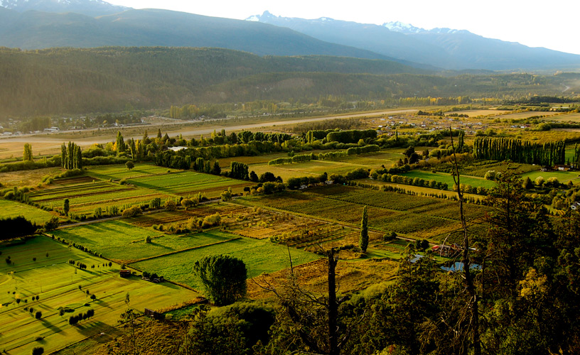 Las chacras y campos que caracterizan al valle