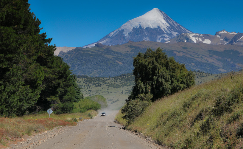 Lanín Volcano rules with its 3,776 meters of height