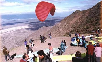 Paragliding over Famatina
