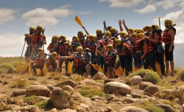 Divertido rafting en el Chimehuin