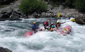 Rafting down the Aluminé Rapids