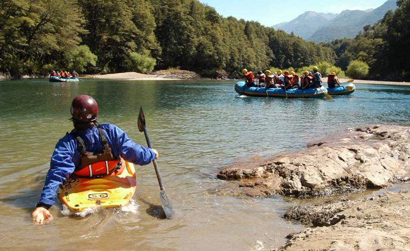 Rafting en el río Manso