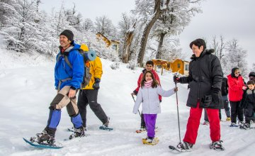Snowshoeing on Chapelco