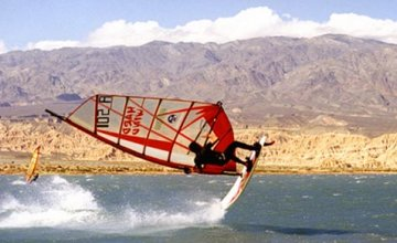 Windsurfing at Cuesta del Viento
