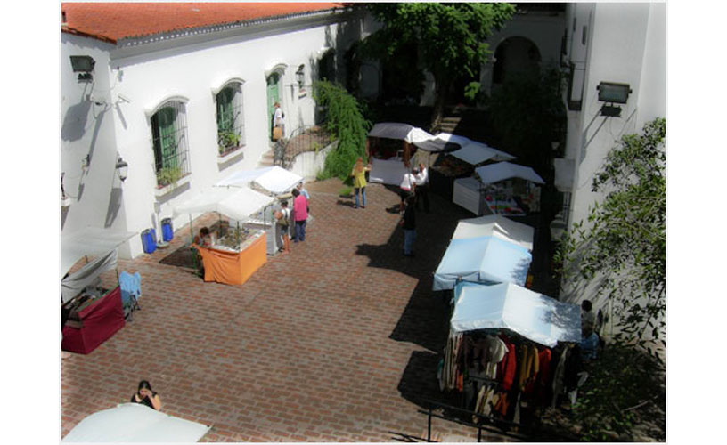 The courtyard of the historic Cabildo