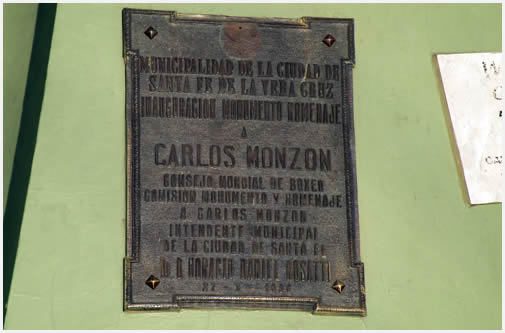 Visit to the Carlos Monzón Monument