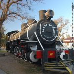 Ancient locomotive at Quijano Field