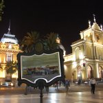 Night view of Independence of Tucum�n Square